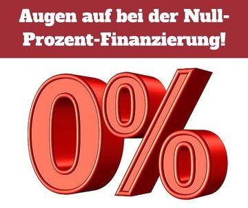 Achtung bei der Null-Prozent-Finanzierung