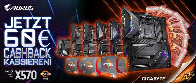 Cashback-Aktion mit Gigabyte X570 Mainboards samt Ryzen CPU